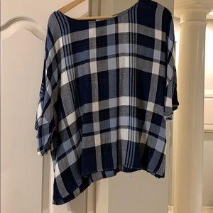 Vince Camuto Plaid blouse